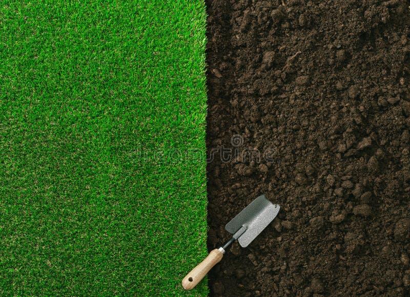 从事园艺和环境美化 库存图片