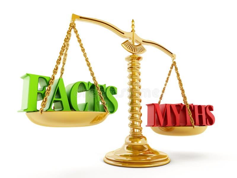 事实和神话 免版税库存照片