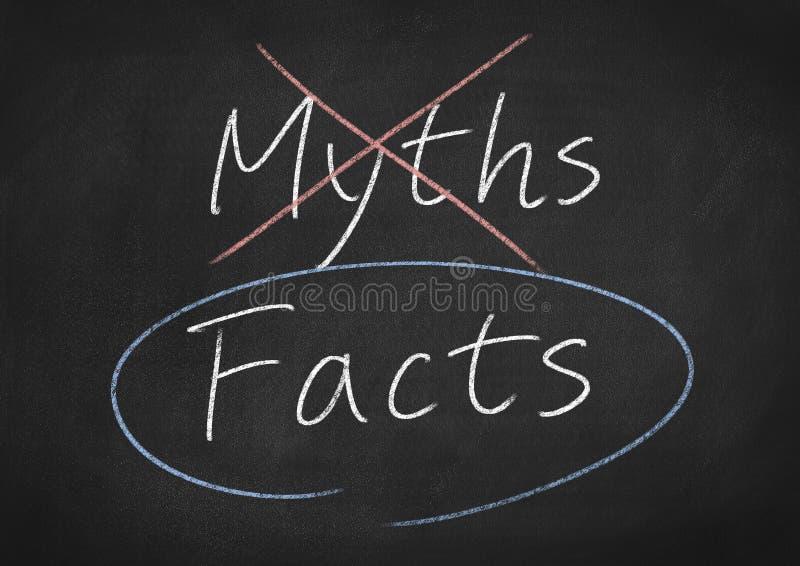 事实和神话 库存图片