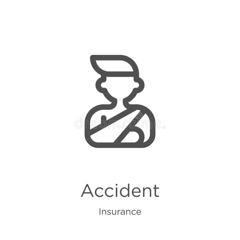 事故从保险汇集的象传染媒介 稀薄的线事故概述象传染媒介例证 概述,稀薄的线事故 向量例证