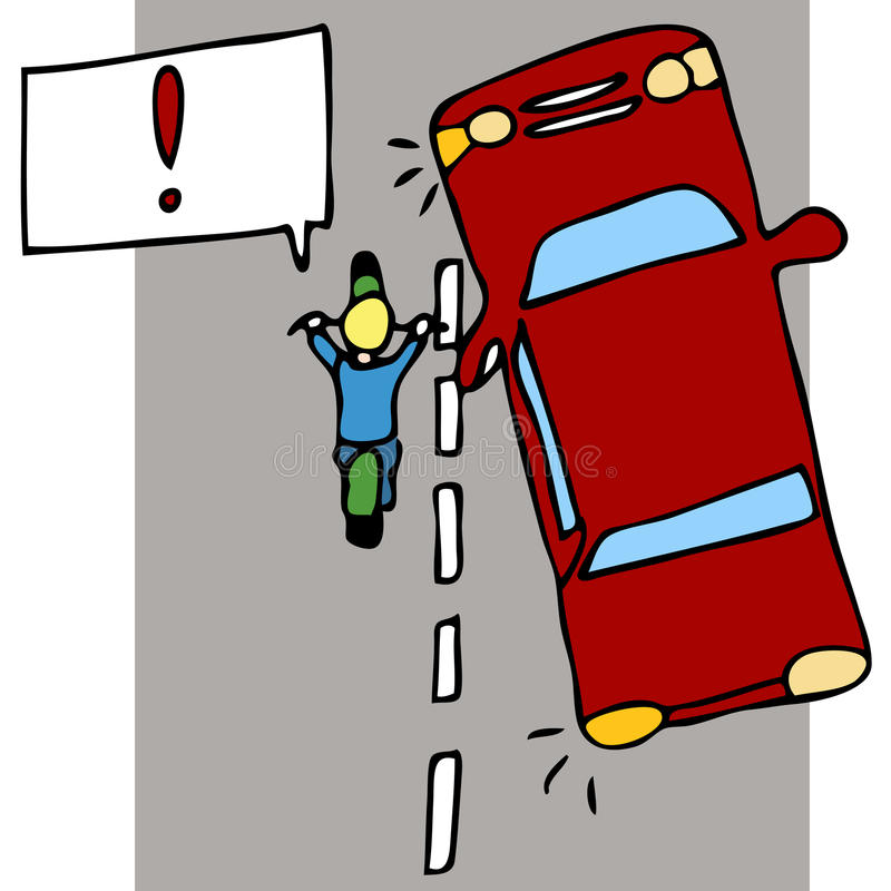 事故摩托车 库存例证