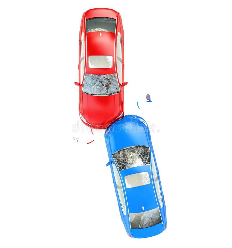 事故车祸机动车路路 皇族释放例证