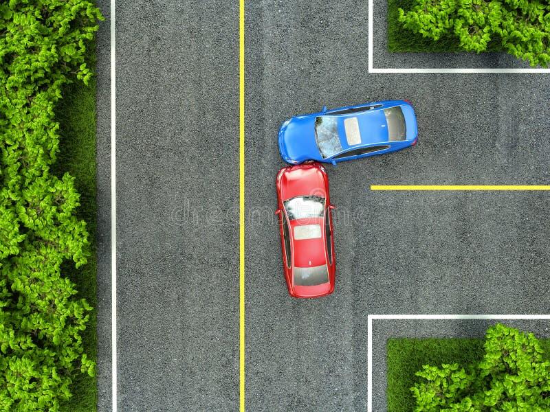 事故车祸机动车路路 向量例证