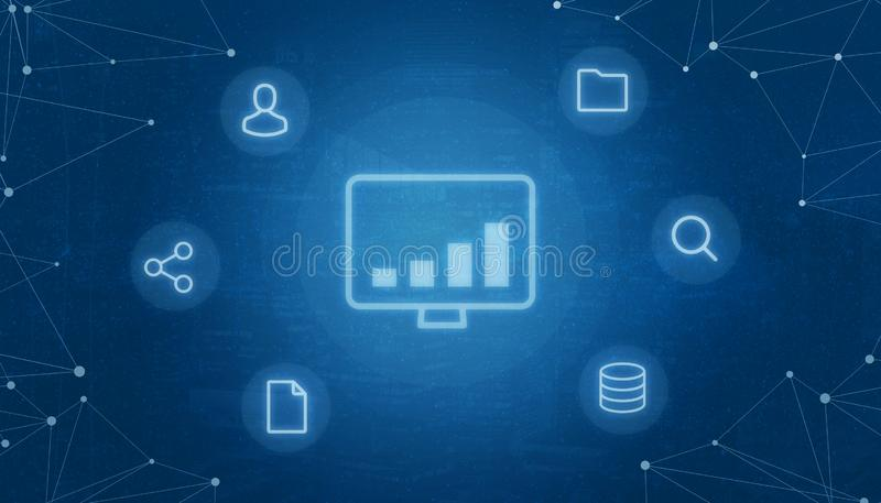 事概念互联网与计算的tehnology成长象的围拢与象 皇族释放例证