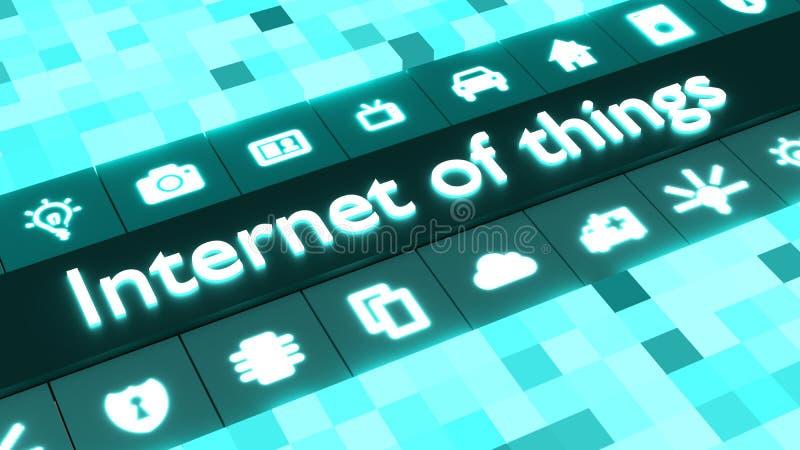 事概念抽象互联网在蓝色的与象 皇族释放例证