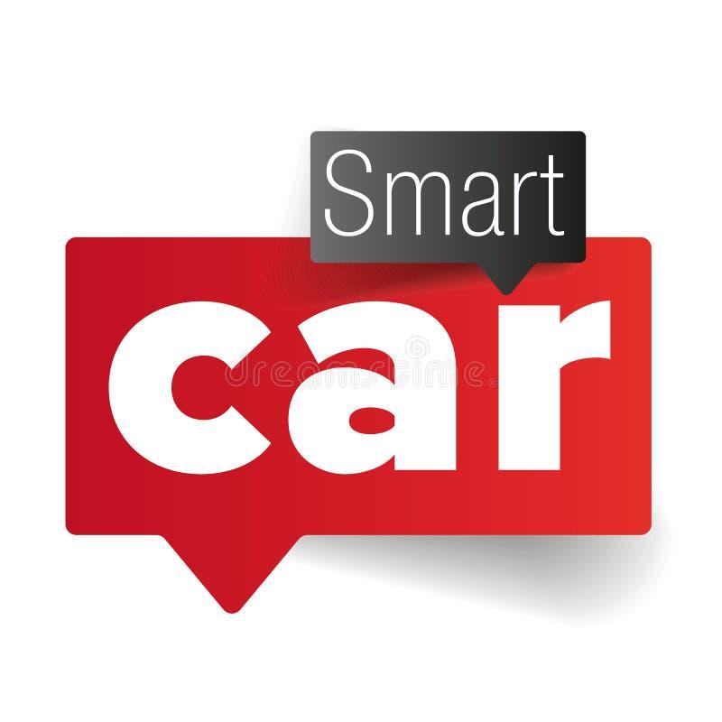 事聪明的车的互联网  向量例证