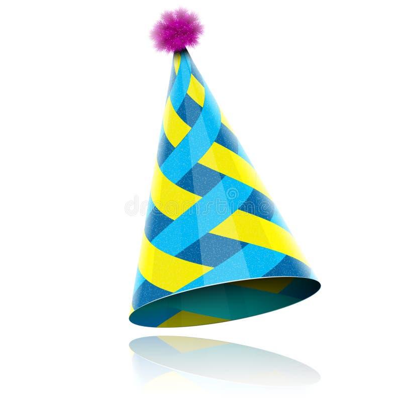 事件庆祝的光滑的锥状帽子。 库存照片