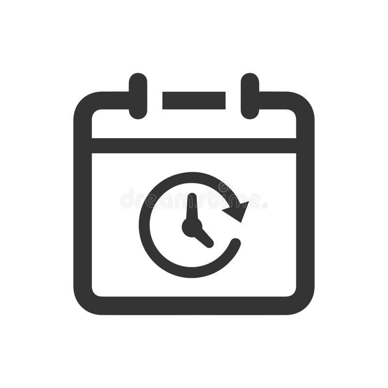 事件日程表象 库存例证