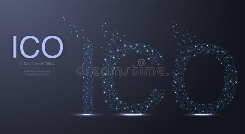 事IOT互联网在多低的样式的 低多导线框架例证 线和小点 多角形艺术 皇族释放例证