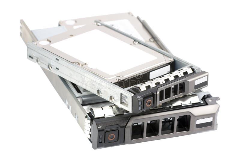 二个不同热插件硬盘驱动器 库存照片