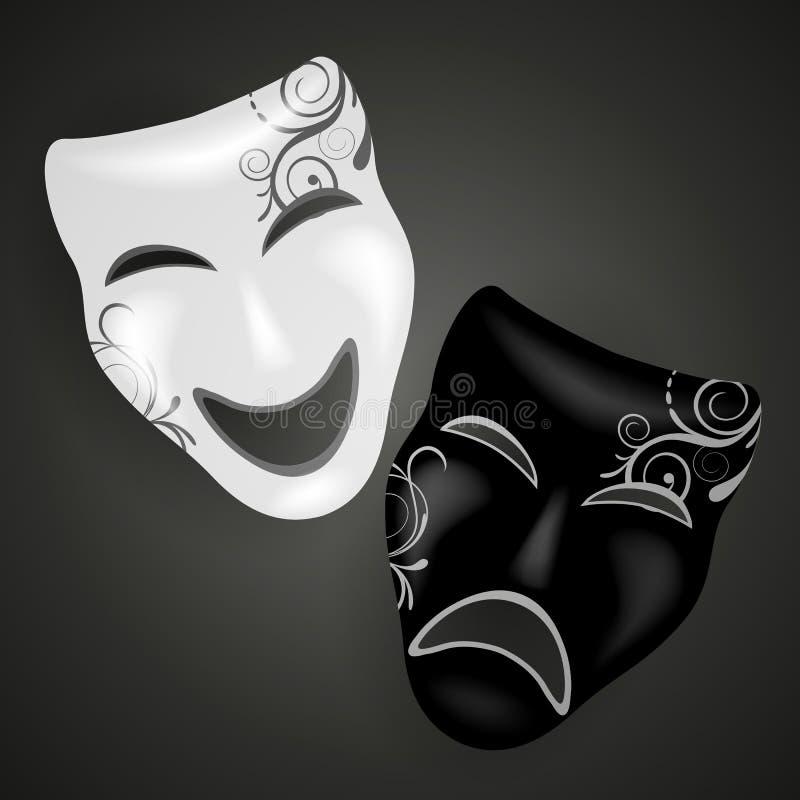 狂欢节面具 库存例证