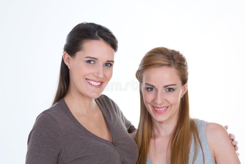 二个俏丽的女孩纵向 图库摄影