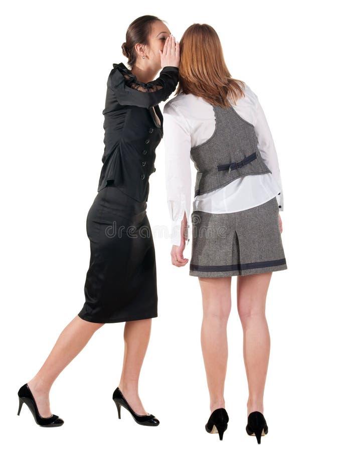 二个新女商人说闲话 免版税图库摄影