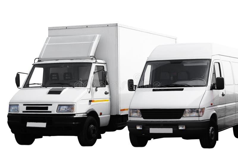 二个有篷货车 免版税图库摄影