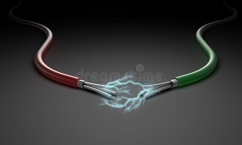 二个电汇 向量例证