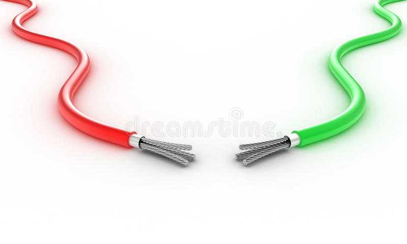 二个电汇 库存例证