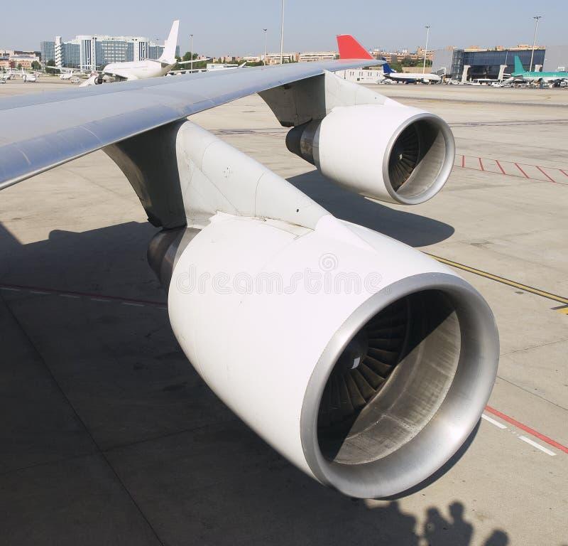 二个航空器喷气机引擎 库存图片