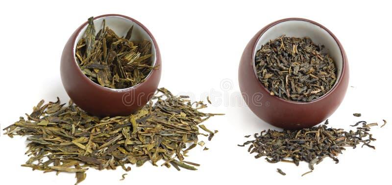 二个茶杯 免版税库存照片