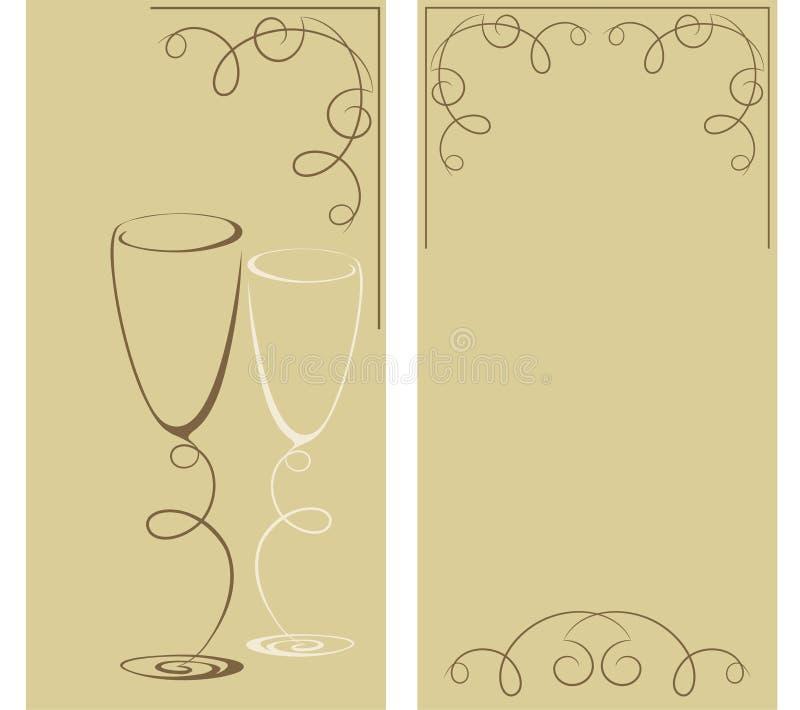 二个酒杯 皇族释放例证