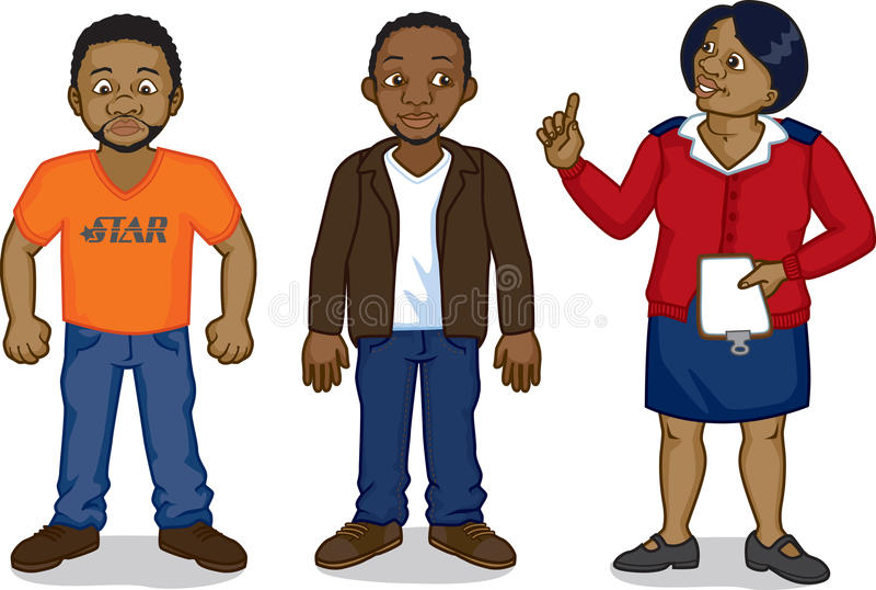 Download 黑人动画片人和护士 向量例证. 插画 包括有 夹克, 闹事, 严格, 统一, 历史记录, 牛仔裤, 破擦声 - 30338773