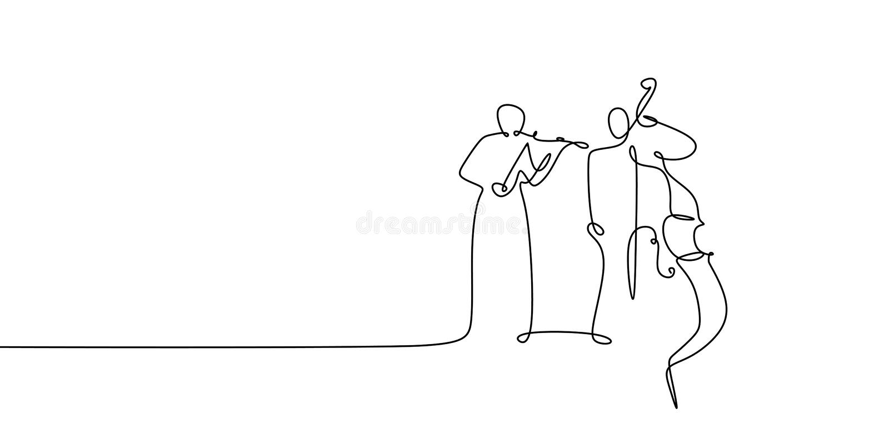 二人使用的大提琴和小提琴连续的一线描古典音乐题材 皇族释放例证