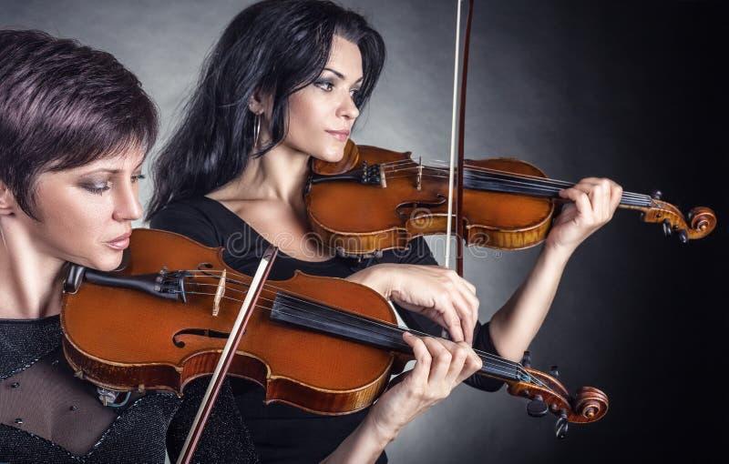 二位小提琴手 免版税库存照片