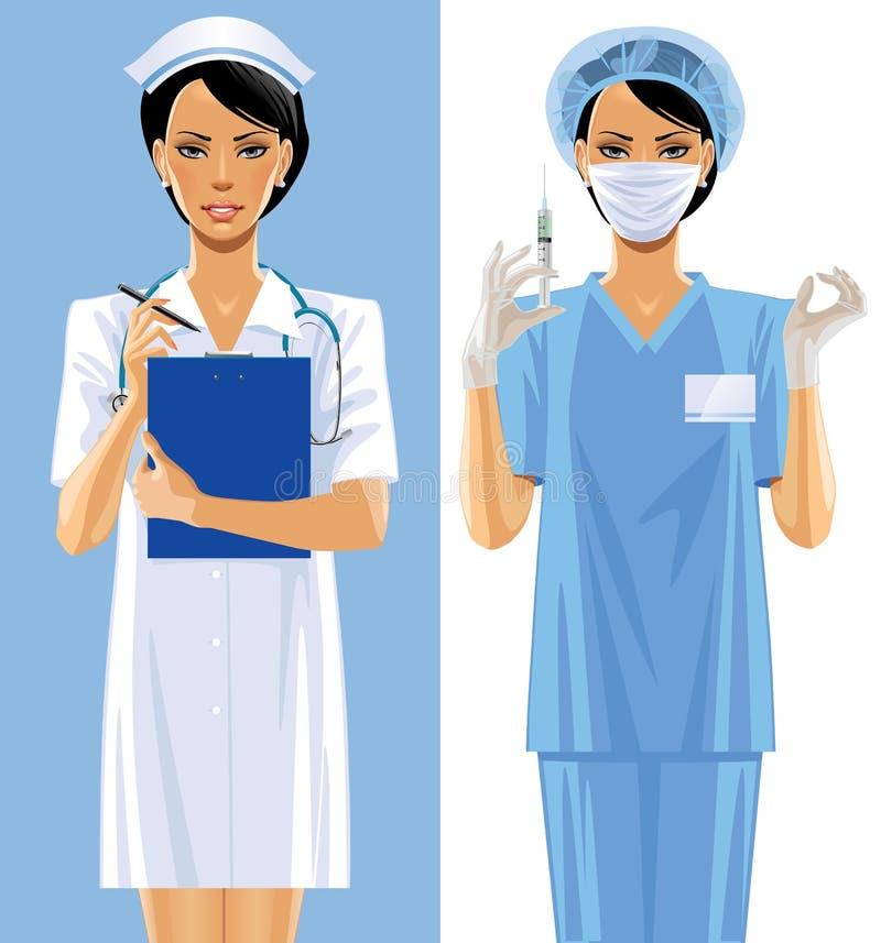 二位护士 库存例证