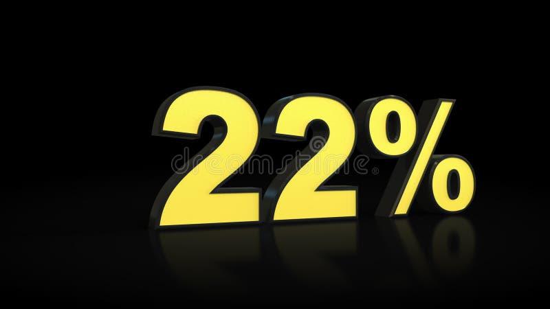 二十二22%% 3D翻译 库存例证