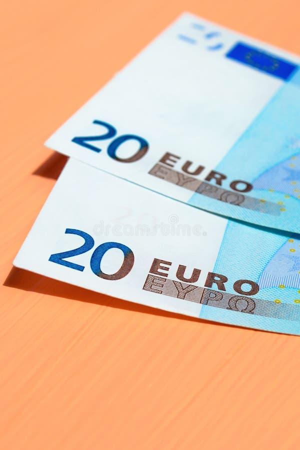 二十张欧洲钞票 免版税图库摄影