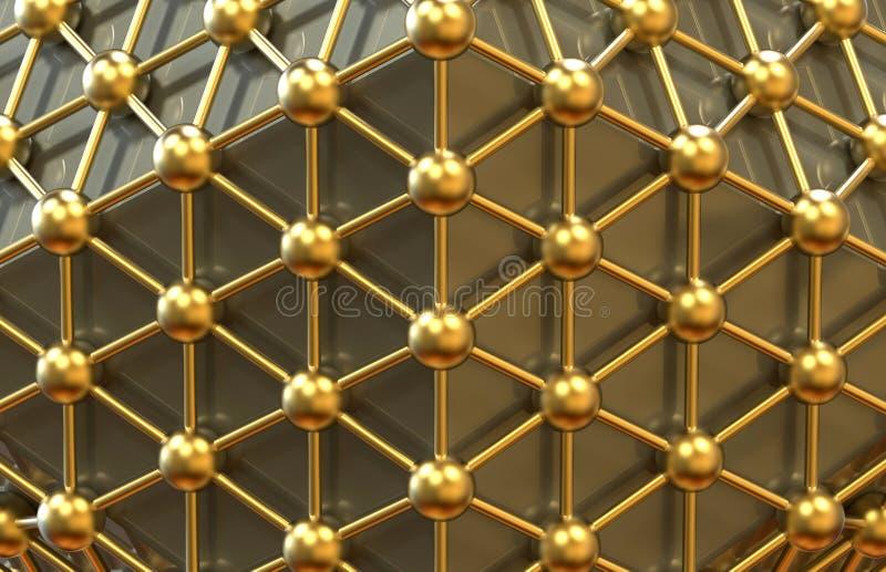 二十面体网络概念 向量例证