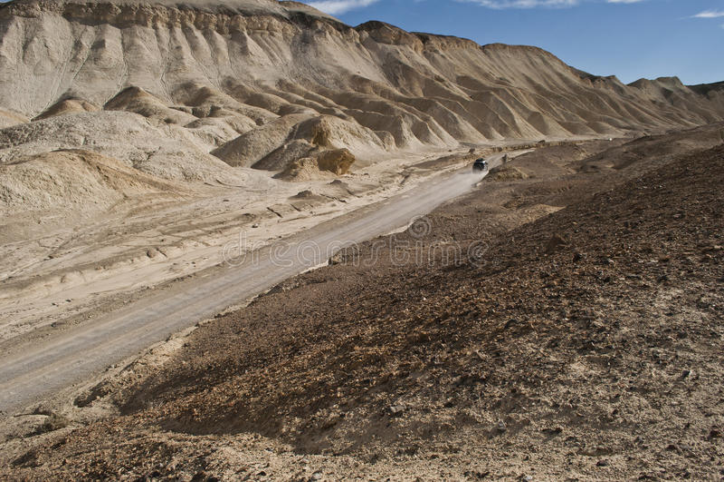二十骡子山谷路和4WD汽车 免版税库存图片