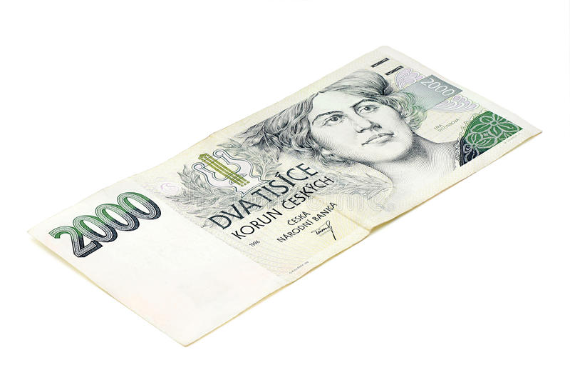二千个捷克冠。 免版税图库摄影