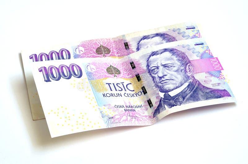 二千张捷克冠钞票 免版税库存照片