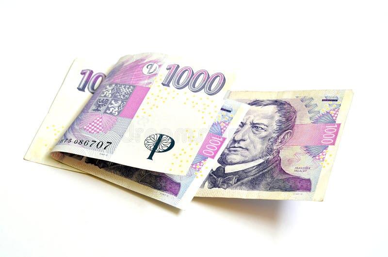 二千张捷克冠钞票 库存照片