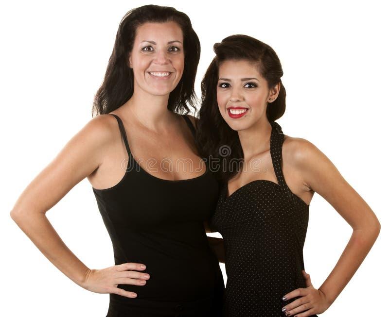 二名西班牙妇女微笑 免版税图库摄影
