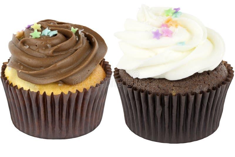 二块杯形蛋糕 免版税库存照片