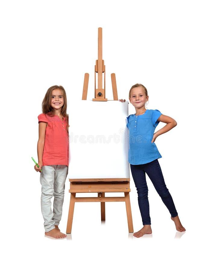 二小女孩 免版税图库摄影