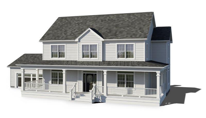 二层的家的白色 库存例证