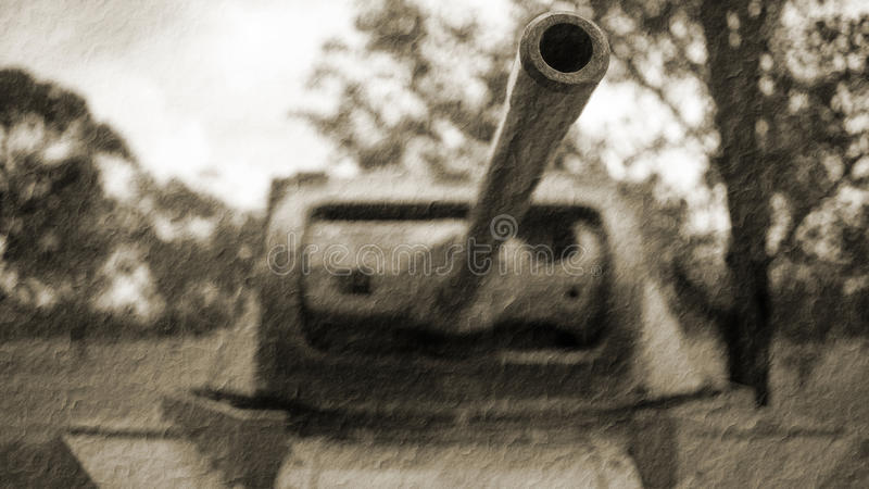 二战坦克葡萄酒照片 免版税库存照片