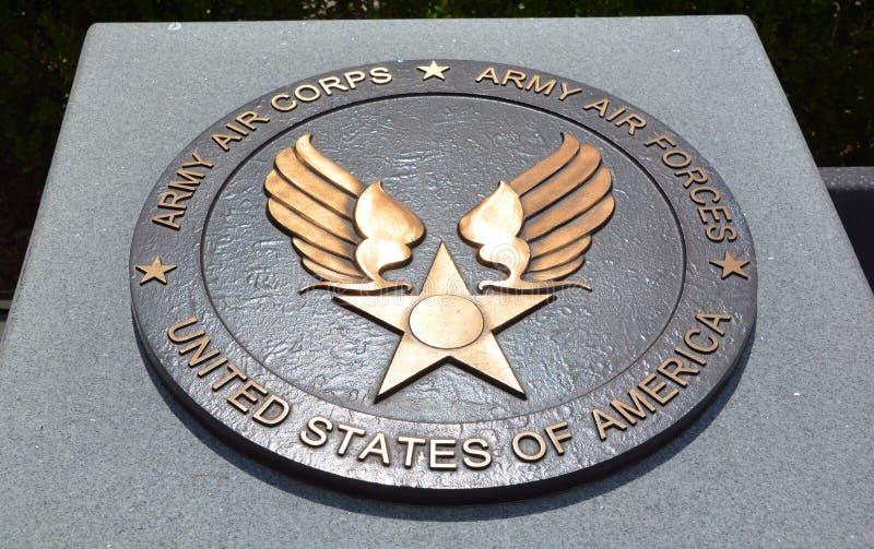 二战纪念碑的奖牌 库存图片