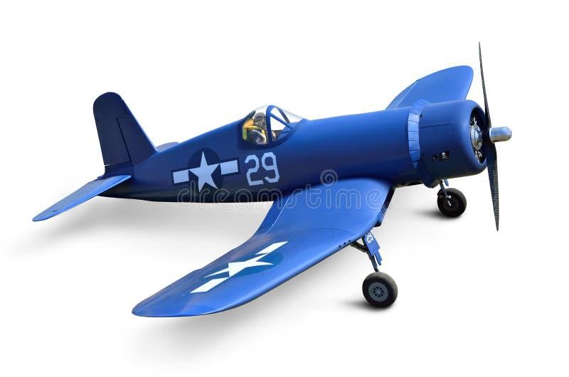 二战美国战斗机在白色背景隔绝了 库存照片