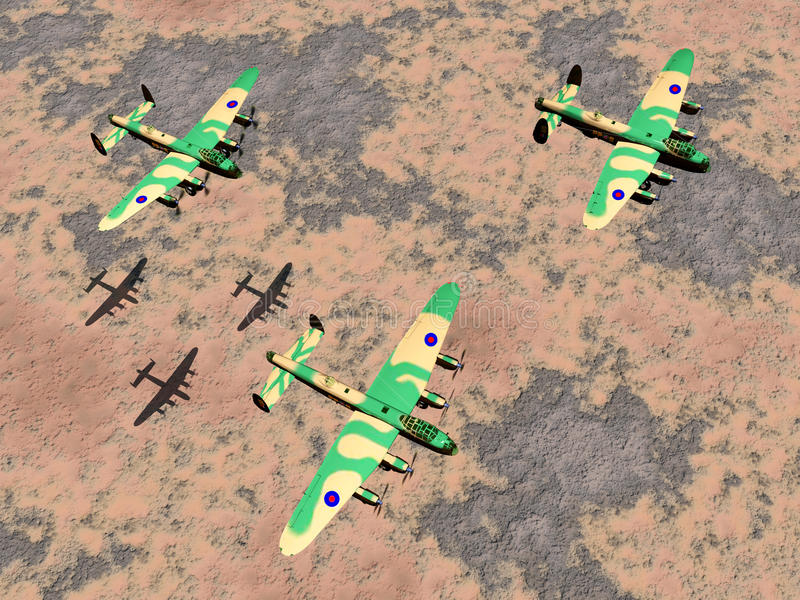 二战英国重型轰炸机  向量例证