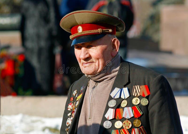 二战退伍军人在斯大林格勒战役的胜利天 库存图片