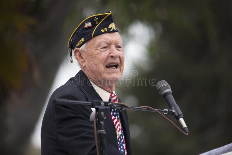 二战阵亡将士纪念日事件,洛杉矶国家公墓,加利福尼亚,美国 免版税库存图片