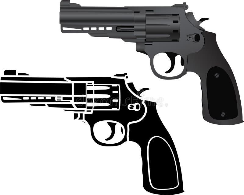 二把手枪 皇族释放例证