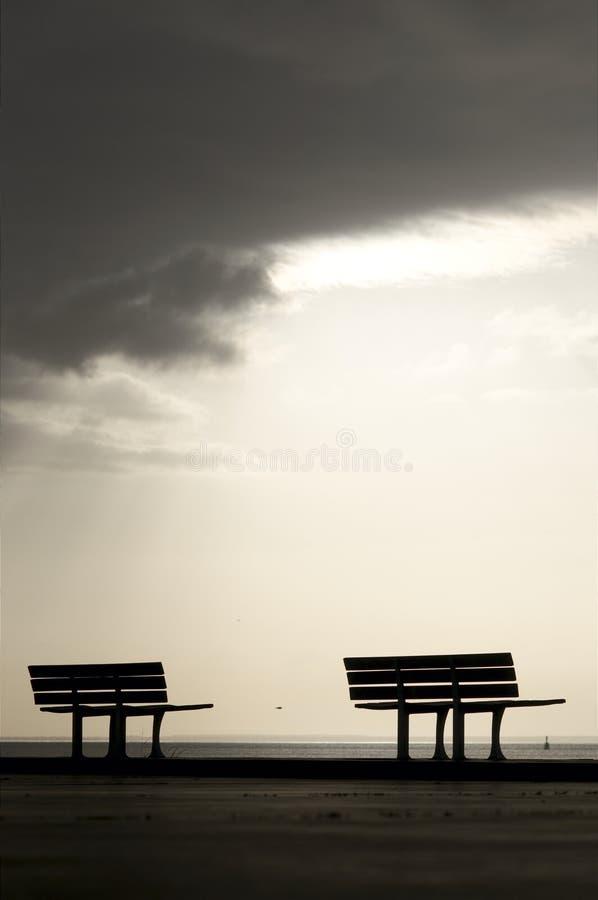 二条长凳 库存图片