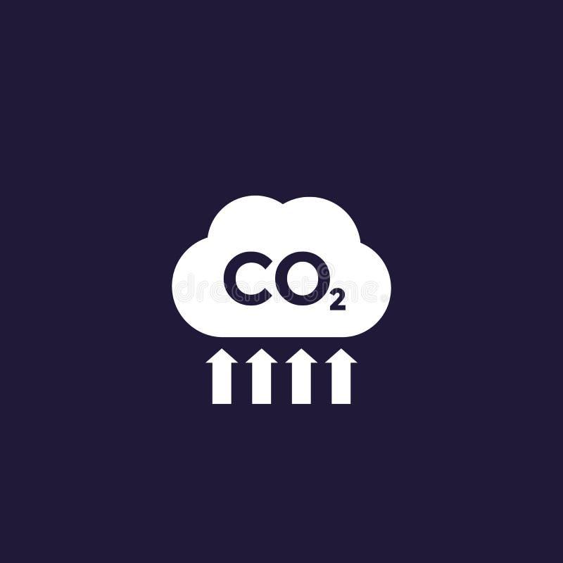 二氧化碳、二氧化碳放射和污染 库存例证