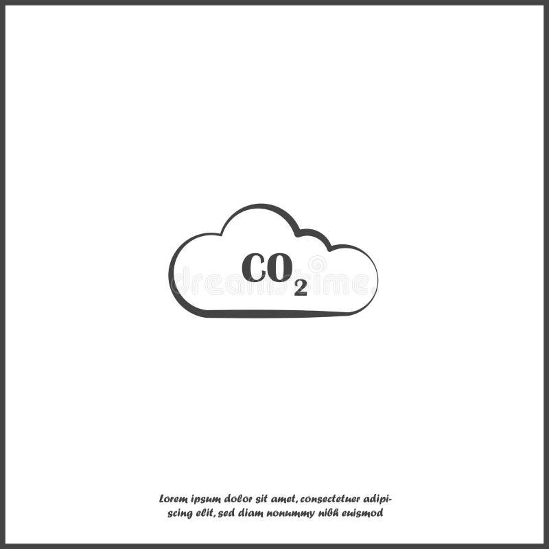 二氧化碳在白色被隔绝的背景的传染媒介象 向量例证