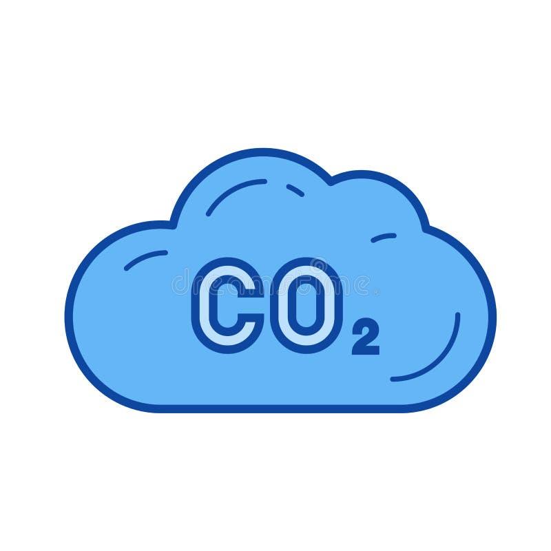 二氧化碳排放线象 库存例证