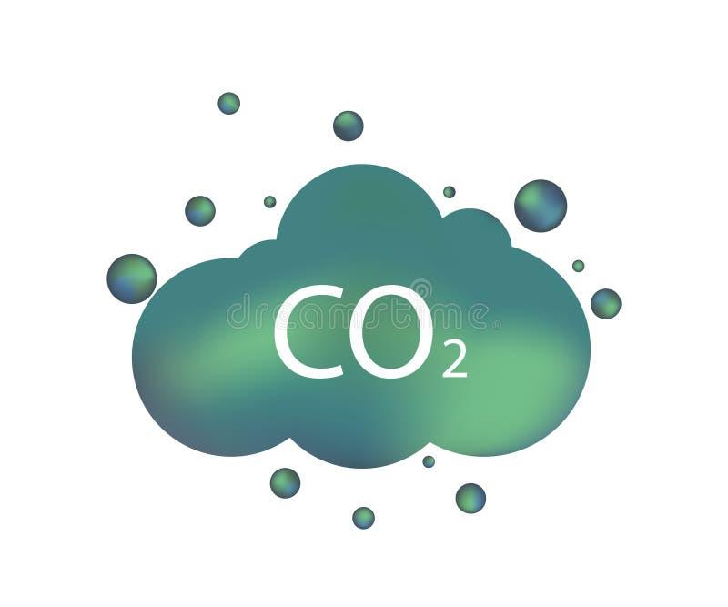 二氧化碳排放象 库存例证
